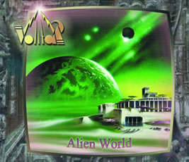 ALIEN WORLD CD cover. Image Copyright2006 Volitar Industries. Background image copyright spacelands.de